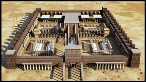 pharonic temple exterior 3D model