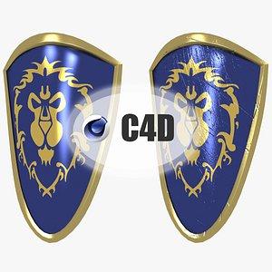 alliance shield 3D model