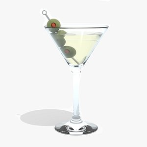 3D cocktail martini olives