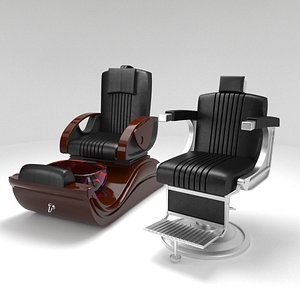 beauty salon chairs 3D model