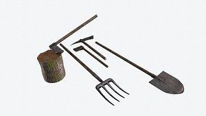 farm tool 3D model