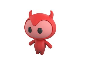 devil mascot character model