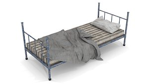 Old Dirty Single Bed 3D