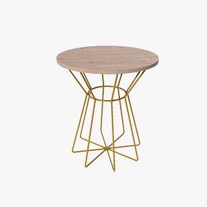 3D model Gretel End Table pine wood finish
