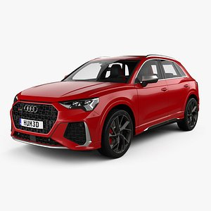 3D model Audi Q3 RS with HQ interior 2019