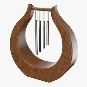 wind chime lyre 3D model