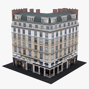 Typical Parisian Apartment Building 28 3D