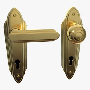 Deco Handle and Plate 3D model