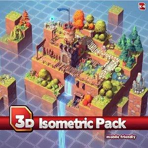 isometric pack 3D model
