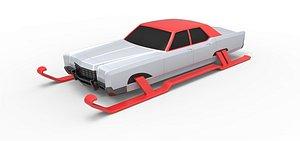 3D santa car