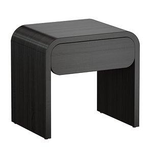bedside table floats charcoal 3D model