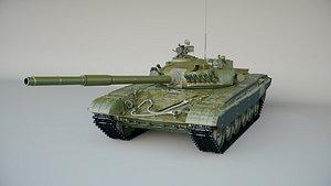 3D model tank vehicle