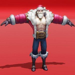 3D santa christmas holidays