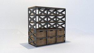 industrial bookshelf cabinet rustic model