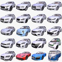Mega Pack of 20 Generic European cars - 1