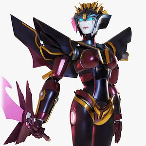 3D Windblade  Transformers Prime model