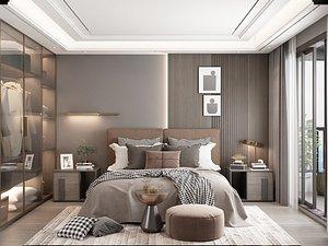 3D Modern Style Bedroom - 534