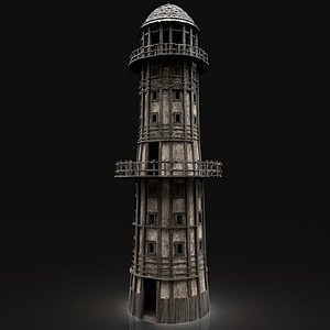 3D lighthouse tower medieval model