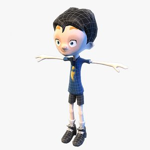 3D teenage stylish boy model