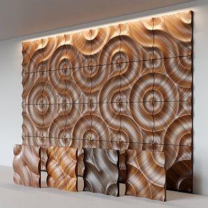 3D moko wooden wall panel