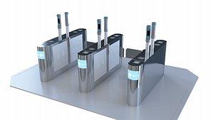 3D Gate, Intelligent Gate, Security Entrance model