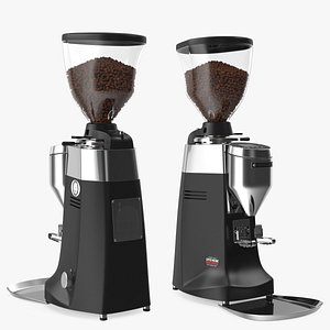 Mazzer Robur S Electronic Grinder with Coffee Beans 3D
