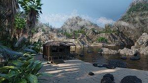 beach nature landscape 3D model
