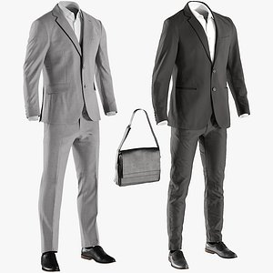 3D model business clothing