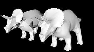 triceratops dino dinosaur 3D model