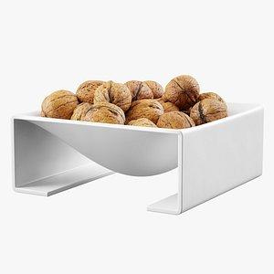 3D bowl walnuts