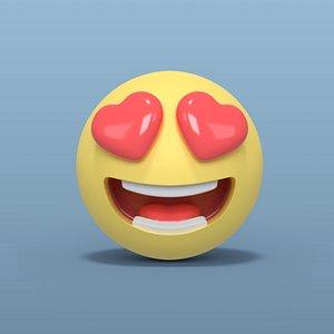 3D smiley smile love model
