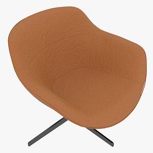 Cassina 277-22 Auckland Arm Chair Arancio Fabric Black Body model