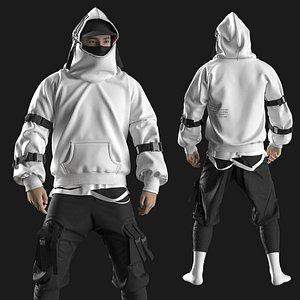 Male Streetwear 2. Marvelous Designer  Clo 3D project 3D model