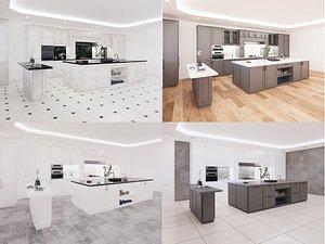 3D model revit family cabinets