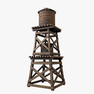 3D model Old Water Tower V4