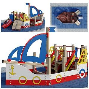 Boat playground 3D model