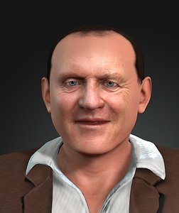 3D Anthony Hopkins design Ready for animation model