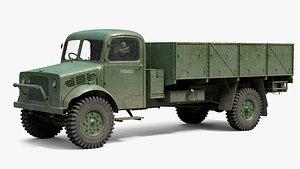 3D bedford oy truck pbr