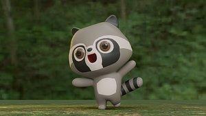 raccoon cartoon character model