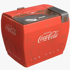 3D model coca-cola vintage soda machine