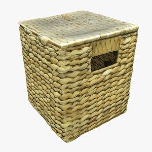 3D model wicker box