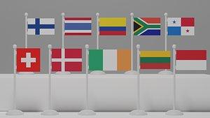flag architectural 3D model