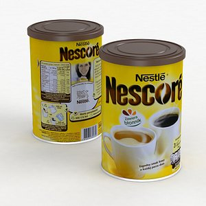 3D espresso latte