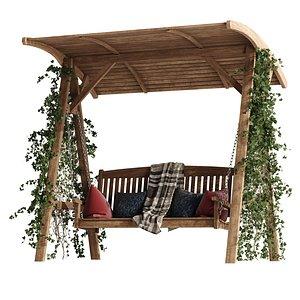 3D Garden swing 2 model