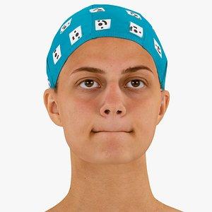 3D model head human raw