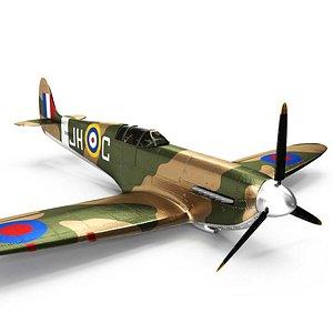 3D model spitfire supermarine
