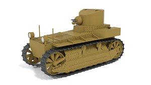 3D Cartoon T1E1 Cunningham Light Tank model