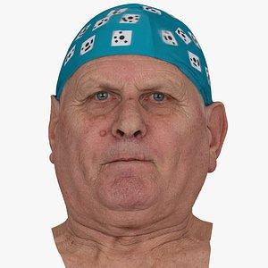 3D Homer Human Head Lip Suck AU28 RAW Scan