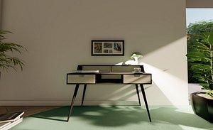 3D desk modern