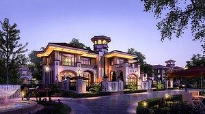 3D villa exterior